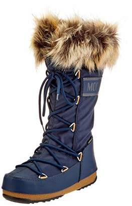 Moon Boot Moon-boot Unisex Adults Monaco Wp2 Snow Boots, Blue (Denim Blu 003)