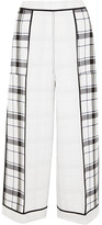 Acne Studios Odette Checked Crepe Wide-leg Pants - White