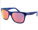 Just Cavalli Square Blue Scale Pattern Sunglasses
