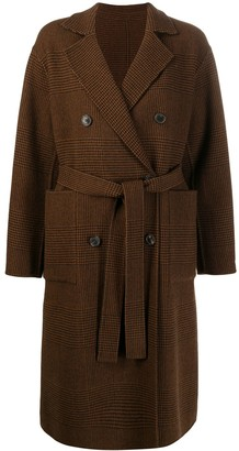 MACKINTOSH FORTROSE Brown Check Wool Reversible Trench Coat | LM-1009RH/J