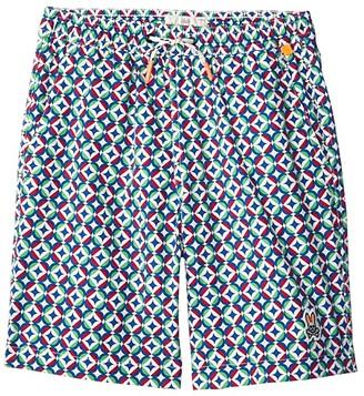 Psycho Bunny Kids Hastings Swim Trunks (Toddler/Little Kids/Big Kids) (Mineral) Boy's Swimwear
