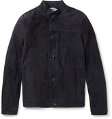 Michael Kors Slim-Fit Suede Harrington Jacket