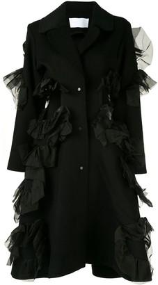 Roberts Wood Cut-Out Ruffle Coat