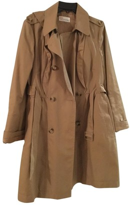 Valentino Red Camel Cotton Trench Coat for Women