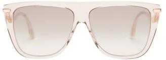 Jimmy Choo Suvi Flat-top Acetate Sunglasses - Womens - Nude