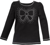 Jumping beans ® bow sparkle tee - girls 4-7