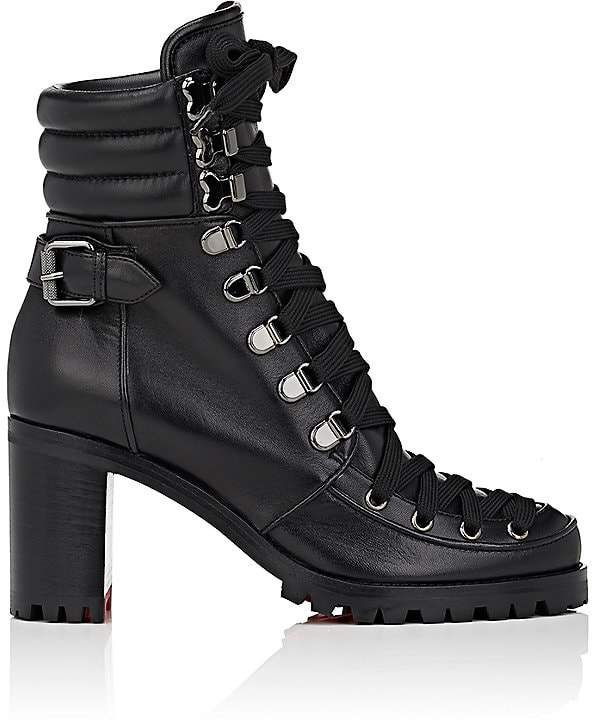 Christian Louboutin Women's Who Runs Leather Ankle Boots