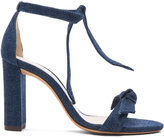 Alexandre Birman Denim Clarita Block Heels