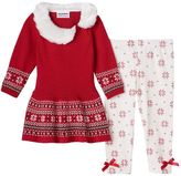 Baby Girl Blueberi Boulevard Peplum Sweater & Leggings Set