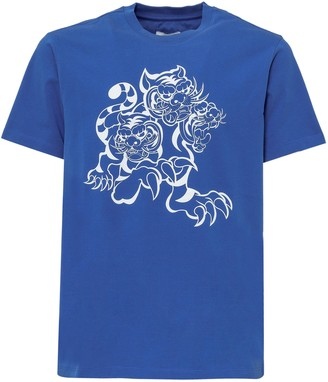 Kenzo X Kansai Yamamoto Three Tigers Print T-Shirt