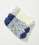 LOFT Mini Floral & Mosaic No Show Sock Set