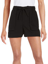 Lord & Taylor Textured Crepe Shorts