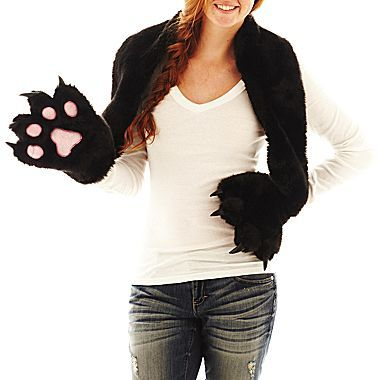 JCPenney Faux-Fur Paw Scarf