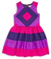 Halabaloo Girl's Sleeveless Colorblock Dress