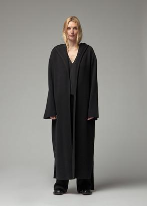 The Row Women's Eliona Coat in Black Size 4 Merino Wool/Cashmere/Polyamide