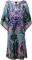 Roberto Cavalli abstract print semi-sheer dress - women - Silk/Cotton - XL