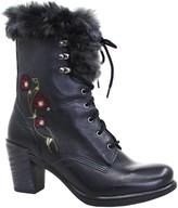 Dromedaris Mid-Calf Lace-Up Boots - Goldie
