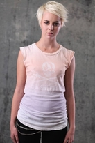 Chaser LA Sea Shepherd Sleeveless Organic Muscle Tee in Ombre