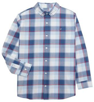Vineyard Vines Little Boy's & Boy's Lagoon Whale Plaid Shirt