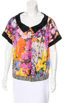 Etro Floral-Printed Semi-Sheer Top