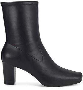 Aerosoles Square-Toe Faux Leather Boots