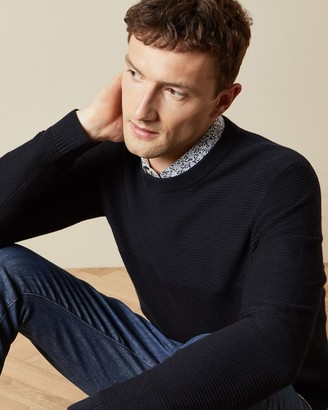 Ted Baker Long Sleeved Wool Crew Neck Jumper