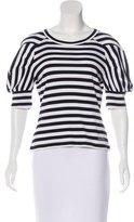 Louis Vuitton Stripe Pattern Short Sleeve Top