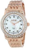 August Steiner Women's AS8045RG Diamond and Crystal Swiss Quartz Bracelet Watch