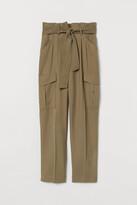 H&M Paper-bag Pants - Beige