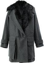 Juun.J fur collar coat