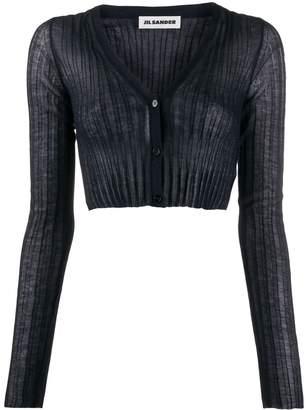 Jil Sander semi-sheer cropped cardigan