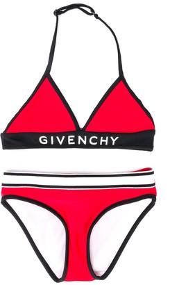 Givenchy Kids logo band bikini
