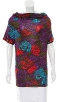 Lanvin Floral Print Short Sleeve Top