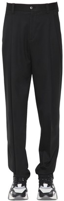 Versace 18cm Pleated Wool Pants