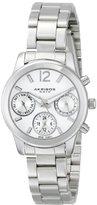 Akribos XXIV Women's AK709SS Ultimate Swiss Quartz Multifunction Silver-tone Bracelet Watch