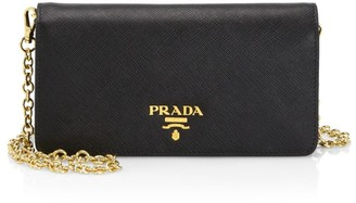 Prada Chain Leather Wallet