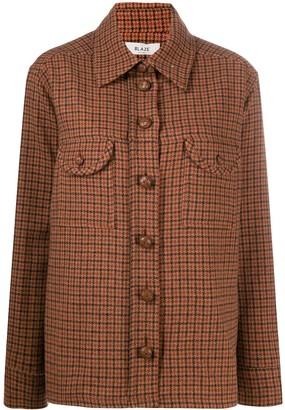BLAZÉ MILANO Cutaway Collar Checked Shirt