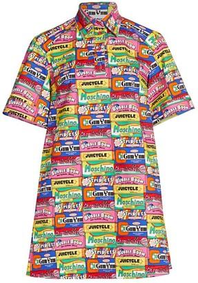 Moschino Chewing Gum Stretch-Cotton Shirtdress