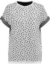 Halston Polka Dot Wool-Blend Top