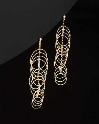 Italian Gold 14K Multi Disc Dangling Earrings