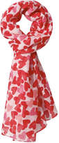 Joe Fresh Kid Girls' Valentine's Chiffon Scarf, Red (Size O/S)