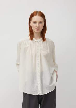 Pas De Calais Shirred Cotton & Silk Blouse