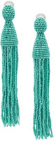 Oscar de la Renta ombre tassel earrings