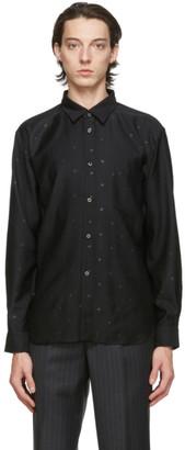 Comme des Garçons Homme Deux Black Gabardine Star Shirt