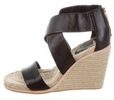 AERIN Jayden Leather Wedge Sandals w/ Tags