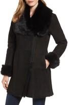 Women's Hidesociety Jorga Genuine Toscana Shearling Asymmetrical Coat