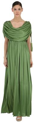 Lanvin Draped Viscose Long Dress