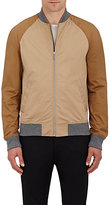 Michael Kors Men's Stretch-Cotton Zip-Front Jacket-TAN