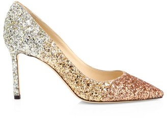 Jimmy Choo Romy Ombre Glitter Pumps