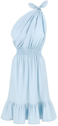 Monica Nera Demi One Shoulder Baby Blue Dress